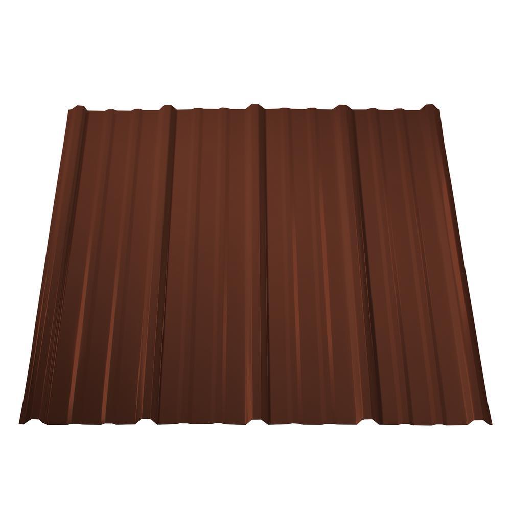 10 ft. Pro Panel II Steel Roof Panel in Brown