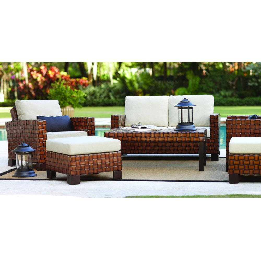 Home Decorators Collection Elba 6-Piece Patio Seating Set in Java Leather