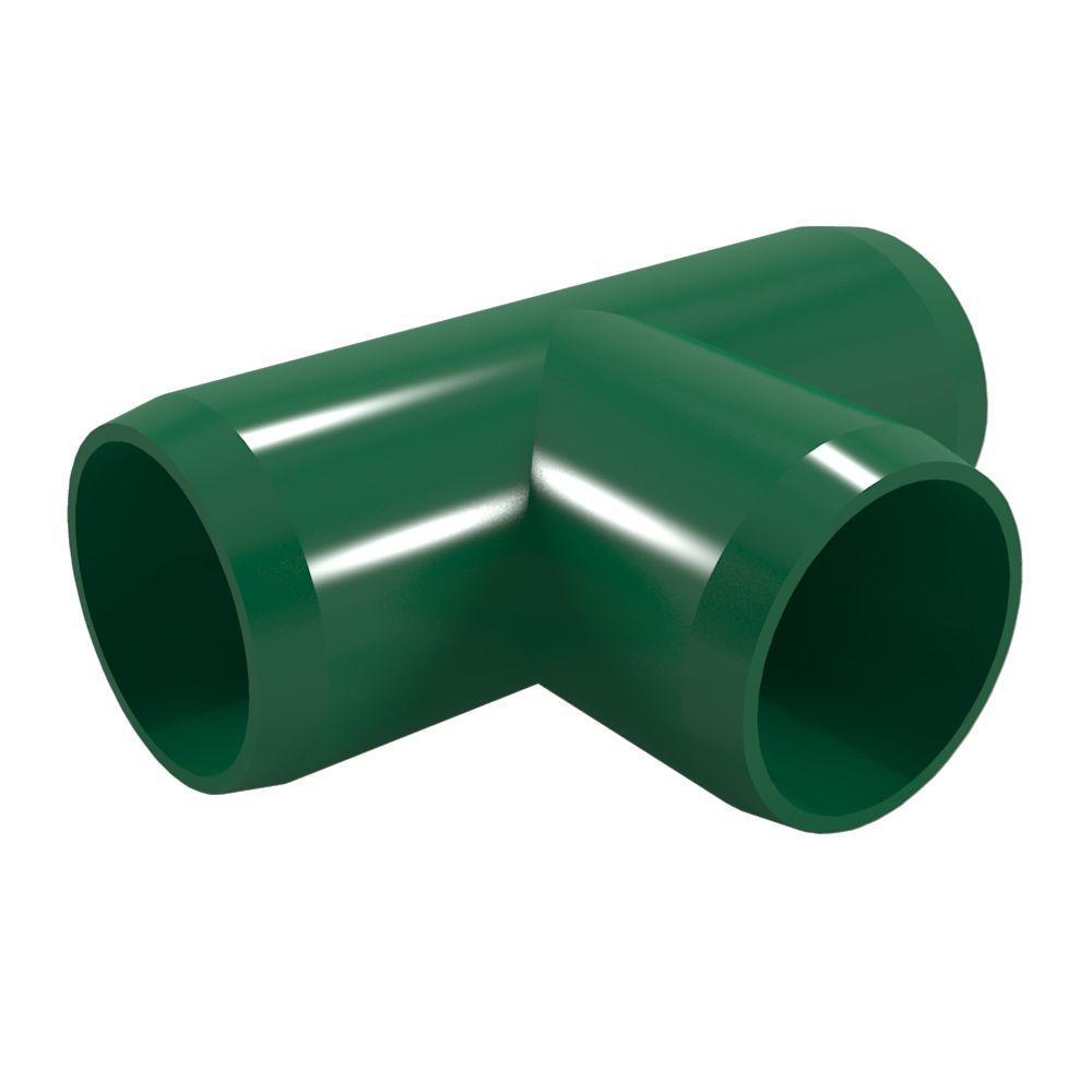 Formufit 1 in. Furniture Grade PVC Tee in Green (4-Pack)