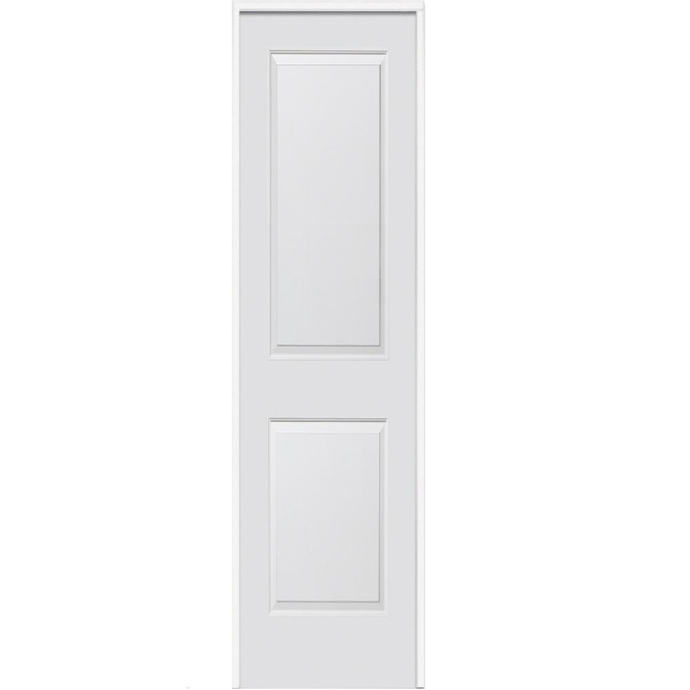 24 in. x 80 in. Smooth Carrara Right-Hand Solid Core Primed