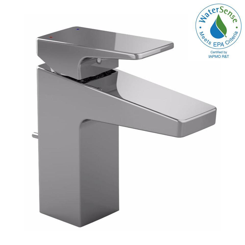 Oberon F Single Hole Handle Bathroom Faucet In Polished Chrome