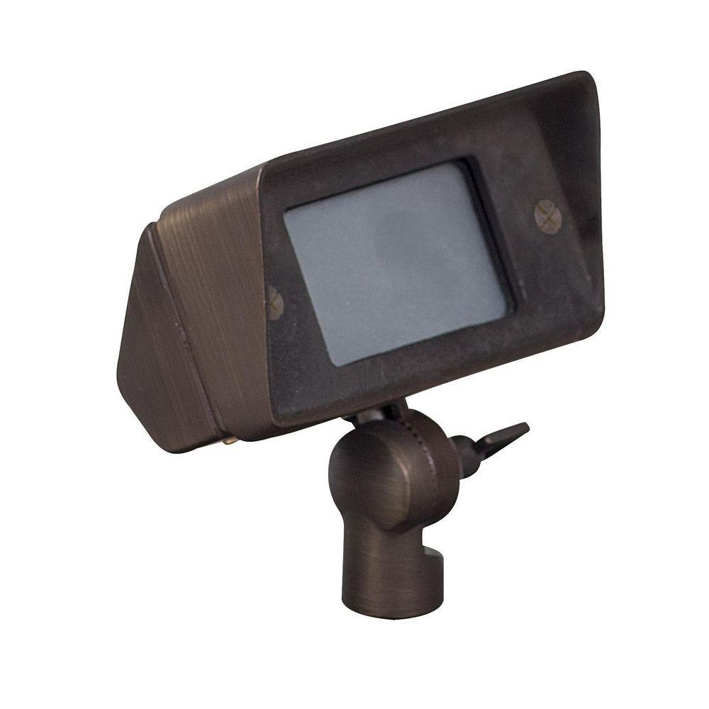Midgley 1-Light Matte Bronze Outdoor Directional Light