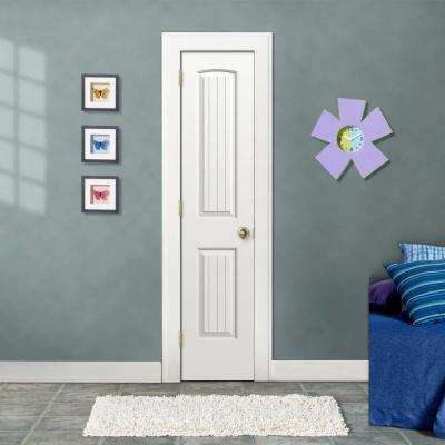18 in. x 80 in. Santa Fe Primed Right-Hand Smooth Solid Core Molded Composite MDF Single Prehung Interior Door