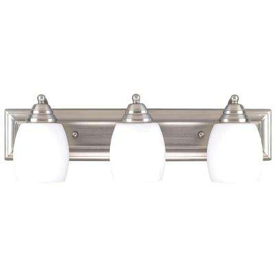 Griffin 3-Light Brushed Pewter Bath Light