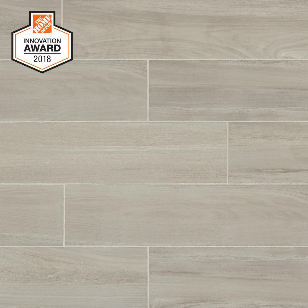 Lifeproof Linen Wood 6 In X 24 Glazed Porcelain Floor And Wall Tile 14 55 Sq Ft Case