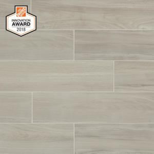 Linen Wood 6 In X 24 Glazed Porcelain Floor And Wall Tile