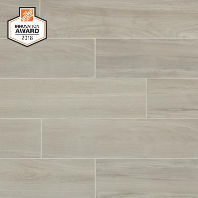 Linen Wood 6 in. x 24 in. Glazed Porcelain Floor and Wall Tile (14.55 sq. ft. / case)