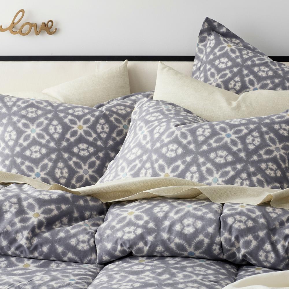 Cstudio Home by The Company Store Stargaze Multicolored Geometric 200 Thread Count Cotton Percale Euro Sham