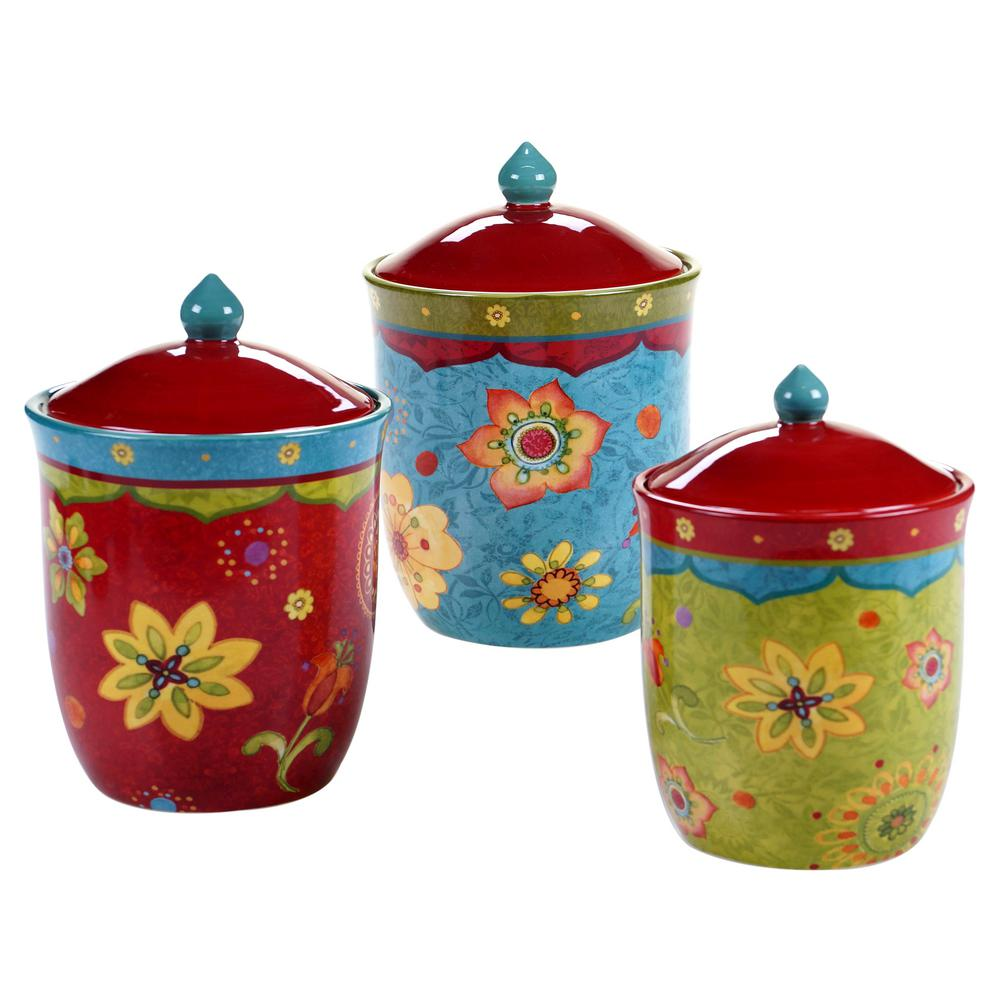 3-Piece Tunisian Sunset Canister Set