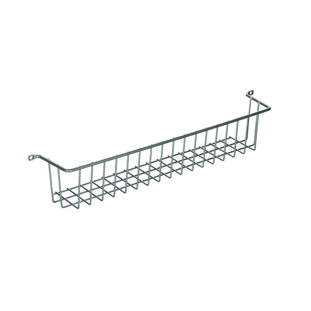 LTL Home Products More Inside Small 3 Sided Wall Mount Wire Basket ...
