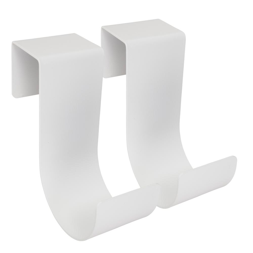 6 in. White Aluminum Slip On Fence Hook Fits 3/4 in.