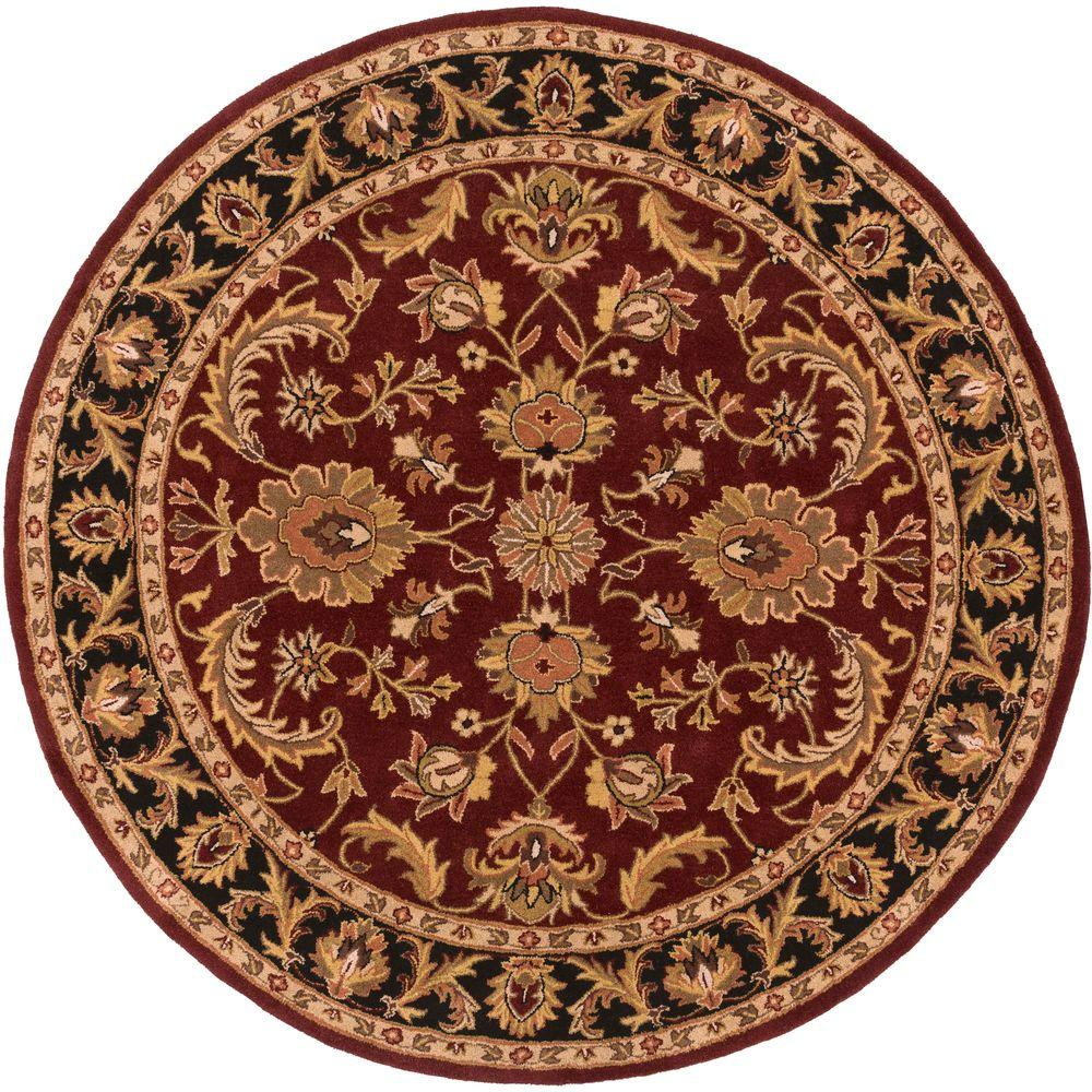 artistic weavers middleton virginia burgundy 4 ft x 4 ft round indoor area rug awoc2001 36rd. Black Bedroom Furniture Sets. Home Design Ideas