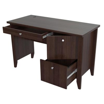 47.2 in. Espresso Wengue Rectangular 2 -Drawer Writing Desk with Keyboard Tray