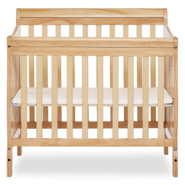Dream On Me Aden Natural 4-in-1 Convertible Mini Crib 628-N
