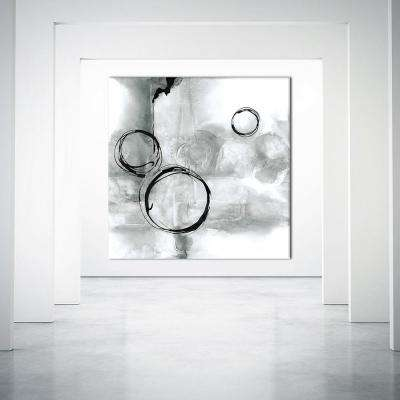 "72 in. x 72 in. ""Full Circle I Gray"" by Chris Paschke Printed Framed Canvas Wall Art"