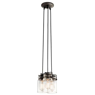 Brinley 3-Light Olde Bronze Pendant Light with Clear Glass