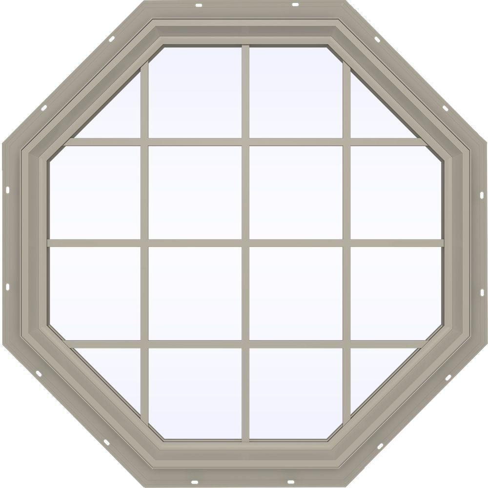 47.5 in. x 47.5 in. V-2500 Series Fixed Octagon Vinyl Window