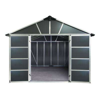 Yukon 11 ft. W x 15 ft. D x 8.3 ft. H Dark Gray Storage Shed with WPC Floor Kit