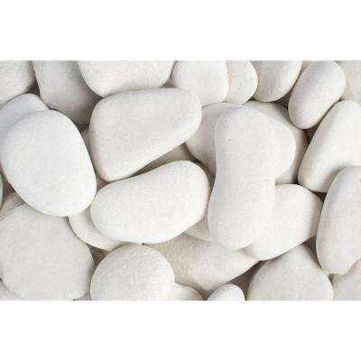 3 in. to 5 in., 30 lb. Large Flat Egg Rock Caribbean Beach Pebbles