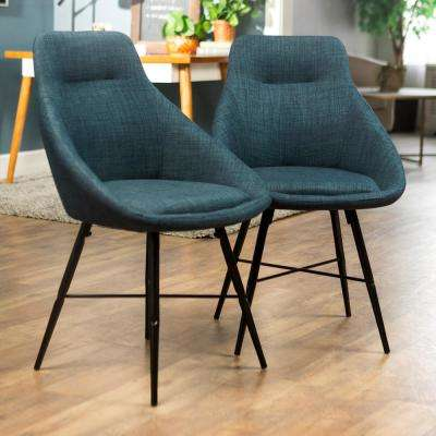 Mid Century Urban 5-Piece  Acorn/Blue Dining Set