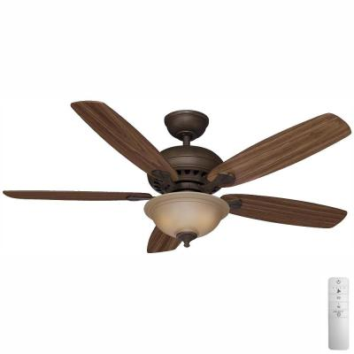 Southwind 52 in. LED Indoor Venetian Bronze Smart Ceiling Fan with Light Kit, Remote Control and WINK Remote Control