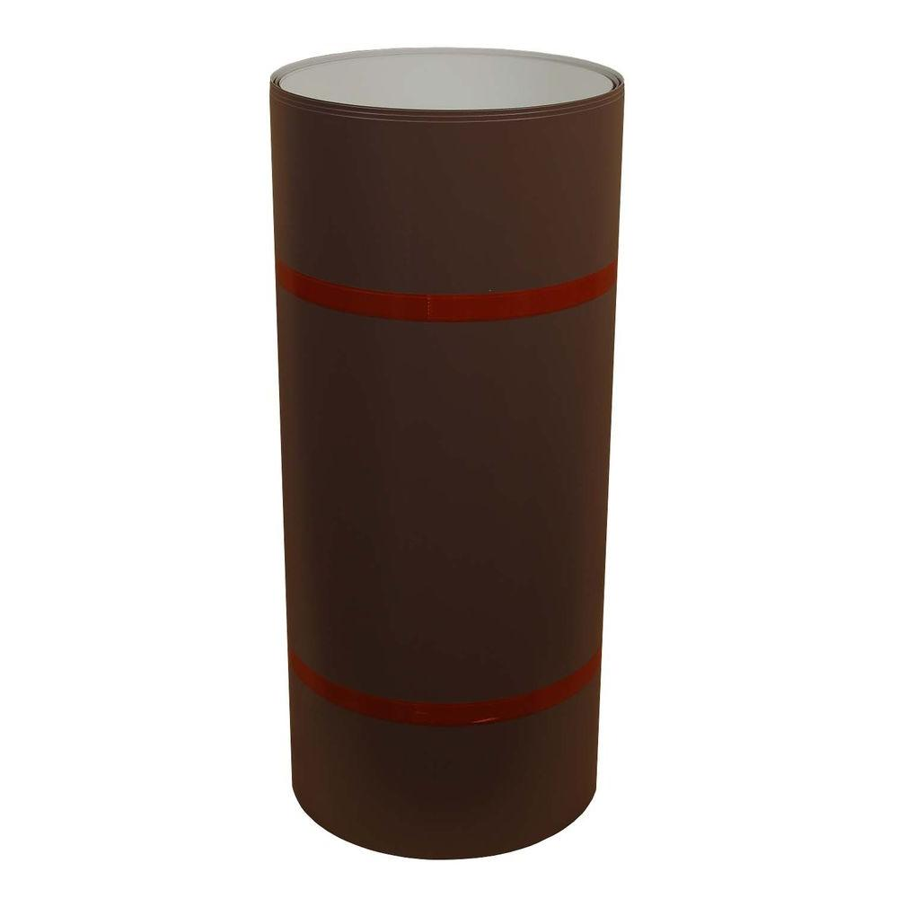 24 in. x 50 ft. Sable Brown and White Aluminum Trim