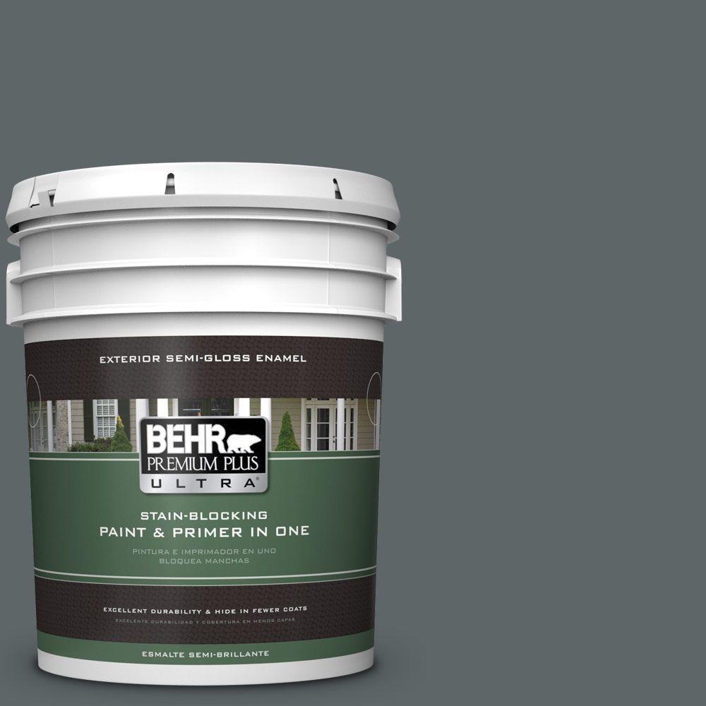 BEHR Premium Plus Ultra 5-gal. #730F-6 Amphibian Semi-Gloss Enamel Exterior Paint