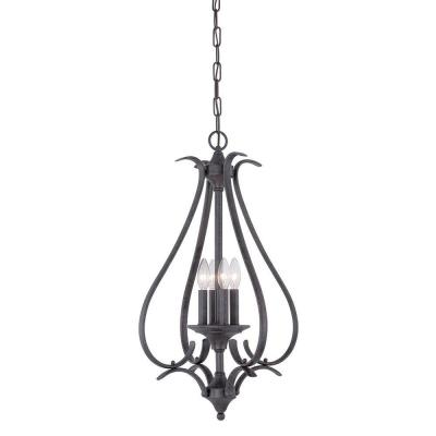 Prestige 4-Light Sable Bronze Hanging Pendant