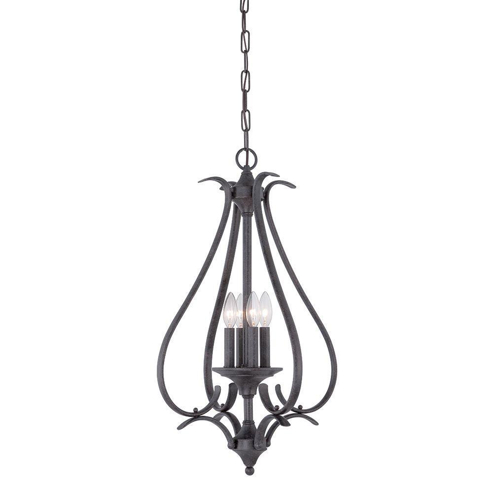 Prestige 4-Light Sable Bronze Hanging Pendant