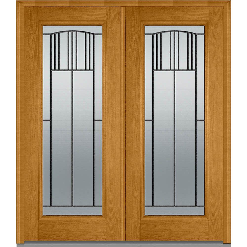 Mmi door 72 in x 80 in madison left hand full lite for 72 x 80 exterior door