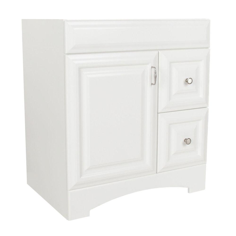 St. Paul Providence 30.125 in. W x 21.75 in. D x 34.25 in. H Vanity Cabinet Only in White