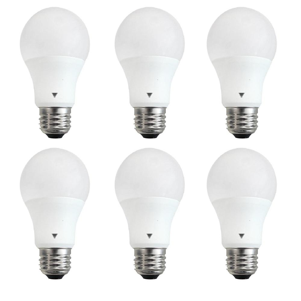 60 Watt Equivalent A19 Dimmable Cool White Led Light Bulb 6 Pack