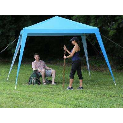 8 ft. x 8 ft. Blue Pole Connector Canopy