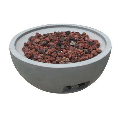 Nantucket 26 in. Round Concrete Natural Gas Fire Bowl in Athens Gray