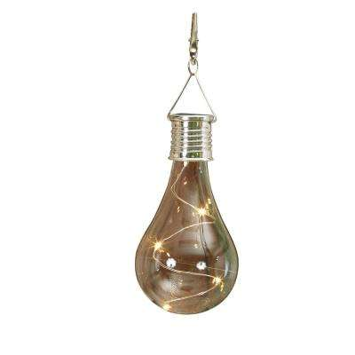 5.5 in. Solar Lighted Hanging Light Bulb with Clip (2-Pack)