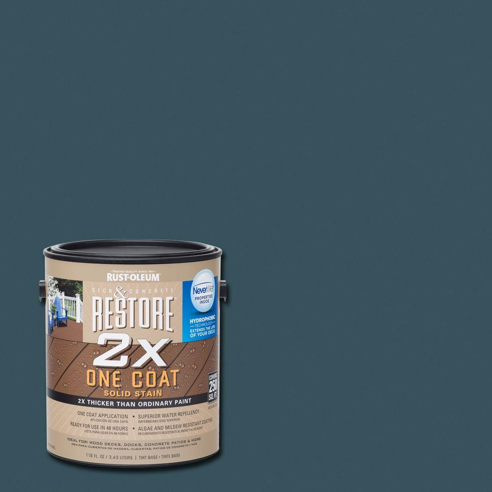 1 gal. 2X Cobalt Solid Deck Stain with NeverWet