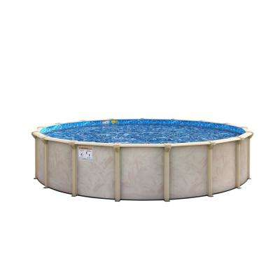 Floridian 27 ft. 52 in. Deep Round Above-Ground Pool Package with 7 in. Top Rail