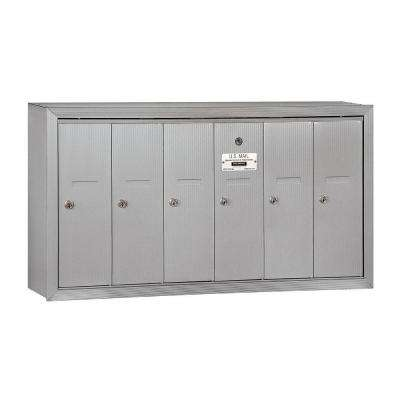 3500 Series Aluminum Surface-Mounted Private Vertical Mailbox with 6 Doors