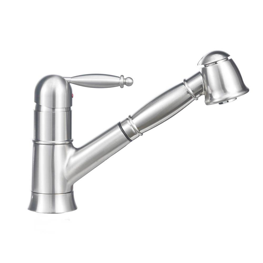 Blanco GRACE II 1.8 Single-Handle Pull-Out Sprayer Kitchen Faucet In ...