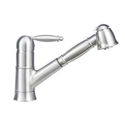 Grace II Single-Handle Pull-Out Sprayer Kitchen Faucet In Satin Nickel