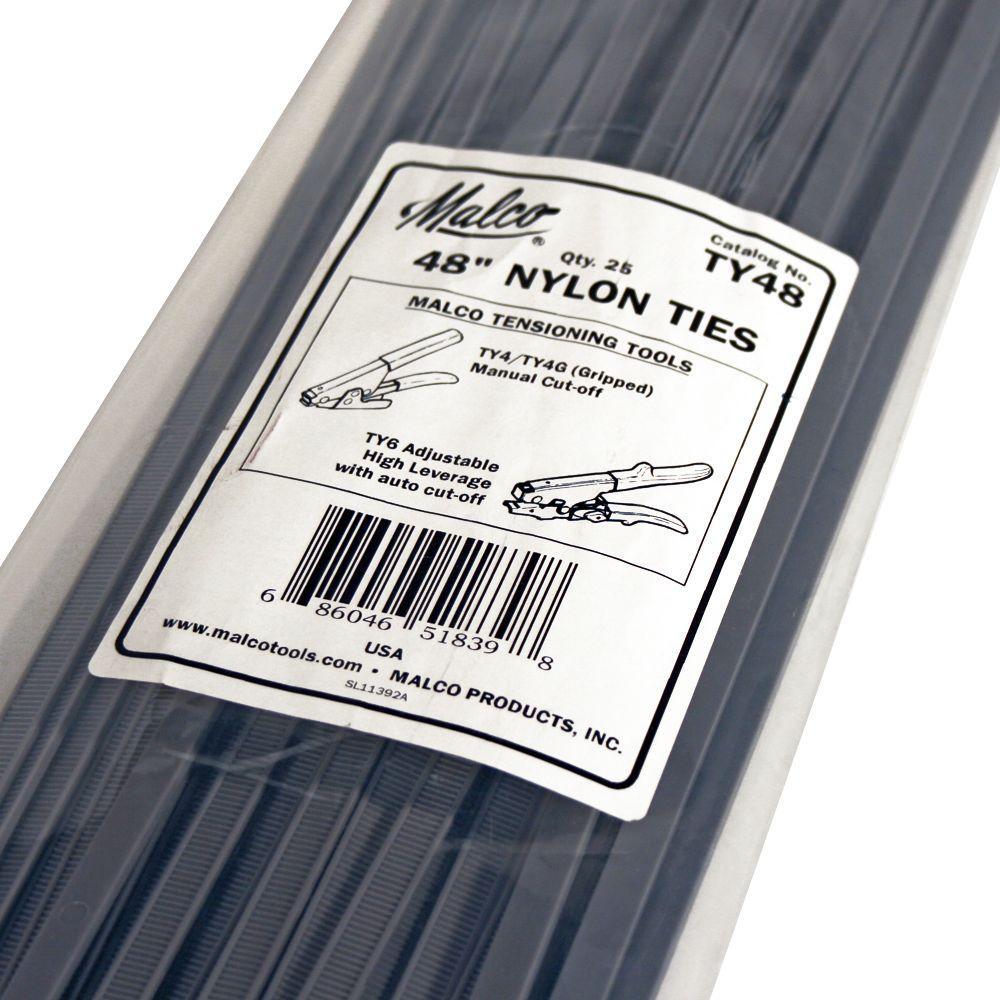48 in. Nylon Adjustable Tie (25-Pack)