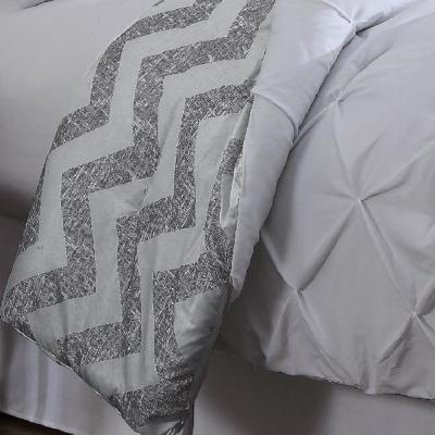 Ella White Solid Queen Comforter