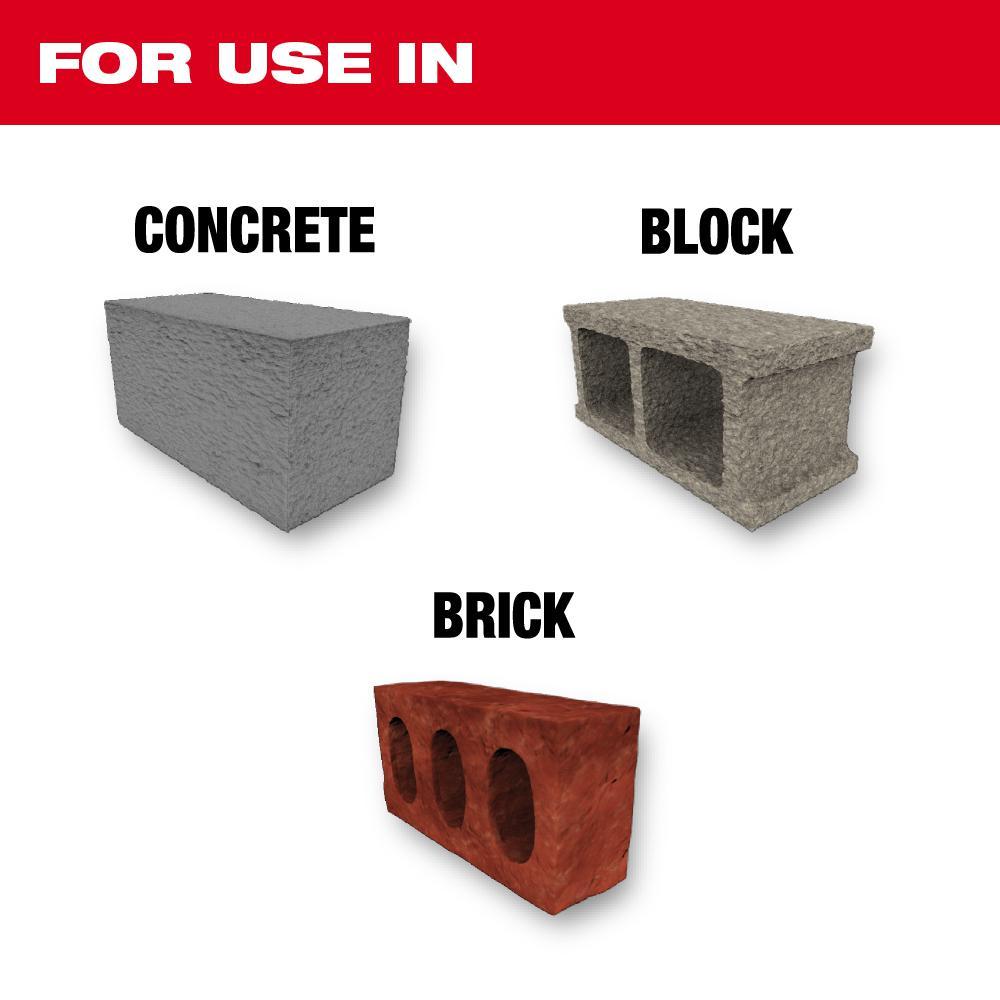SHOCKWAVE Carbide Hammer Drill Bits Set (5-Pack)