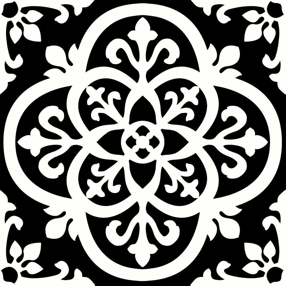 FloorPops Gothic Peel and Stick Floor Tiles 12 in. x 12 in. (20 Tiles, 20 sq. ft.)