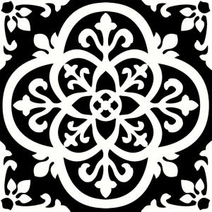 Gothic Peel and Stick Floor Tiles 12 in. x 12 in. (20 Tiles, 20 sq. ft.)