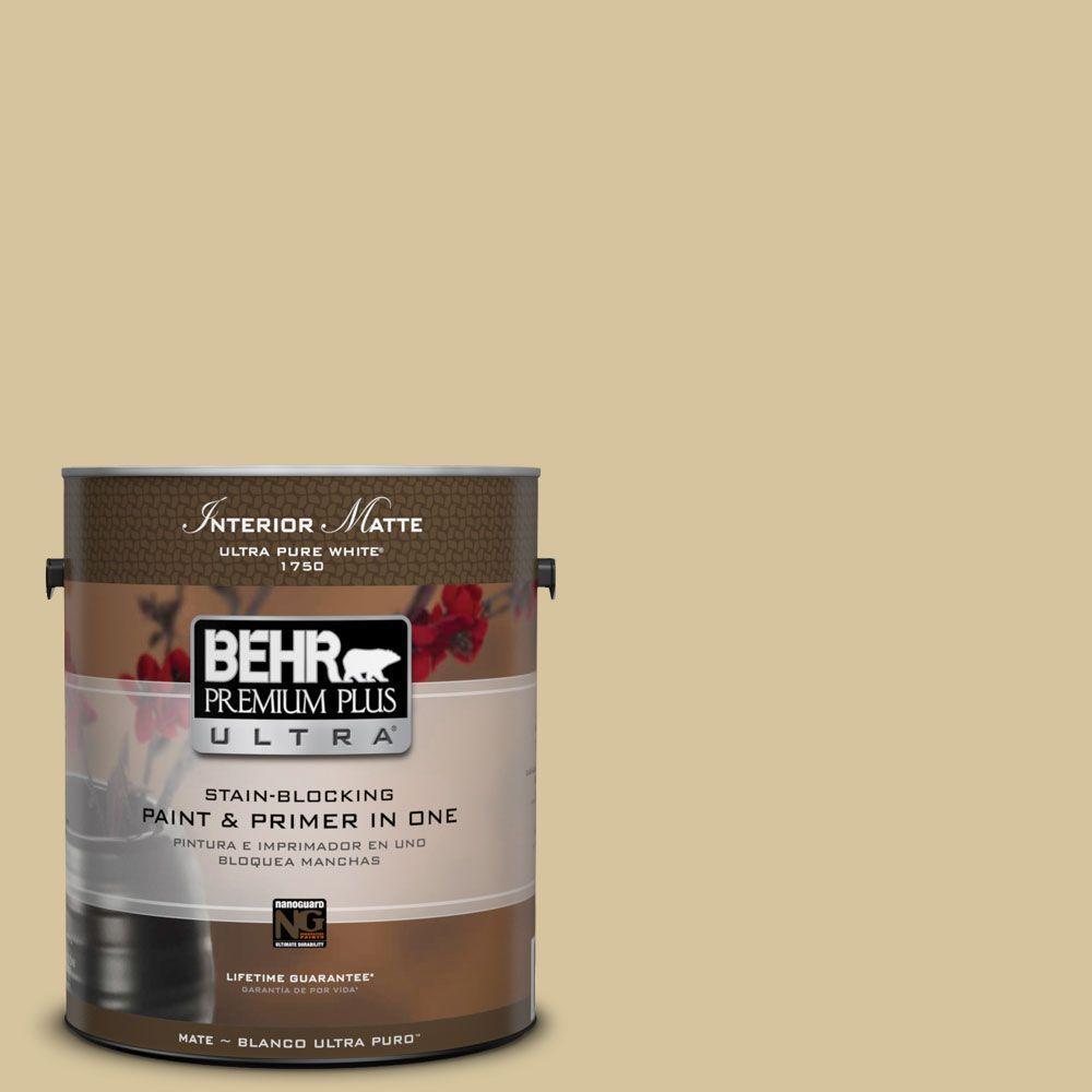 BEHR Premium Plus Ultra Home Decorators Collection 1 gal. #HDC-NT-02 White Oak Flat/Matte Interior Paint