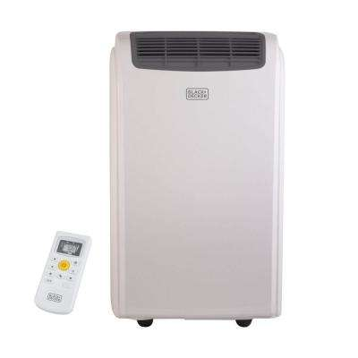 14,000 BTU Portable Air Conditioner with Heater, Dehumidifier, and Remote Control in White