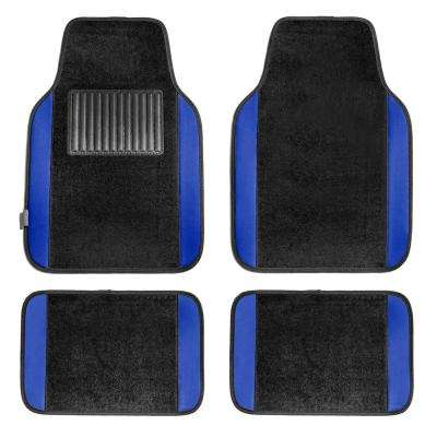 BLUE Premium 4-Pieces 25 in. x 17.5 in. Carpet Car Floor Mats