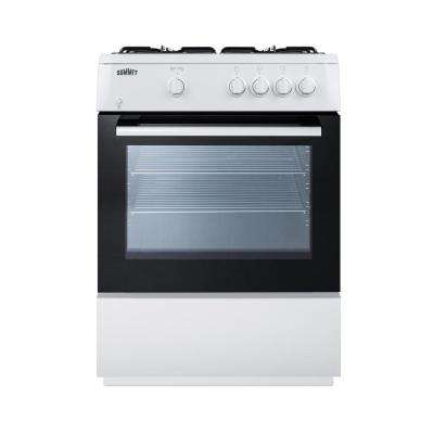 24 in. 2.7 cu. ft. Slide-In Gas Range in White