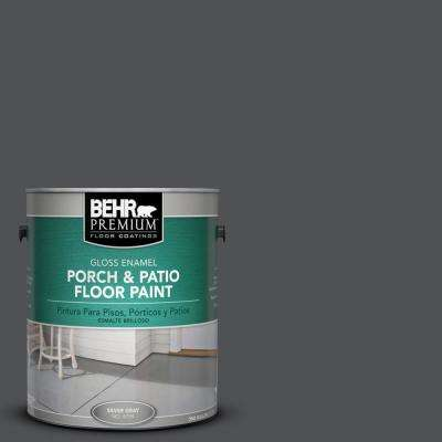 1 gal. #BXC-30 Black Space Gloss Porch and Patio Floor Paint